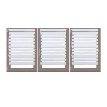 3er Set Doppelrollo Klemmix Jalousie Duorollo 100x150 Fensterrollo Polyester
