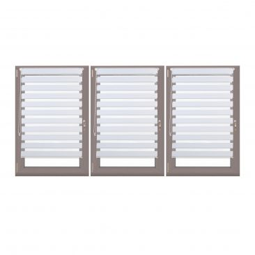 3er Set Doppelrollo Klemmfix Duorollo Fensterrahmen Seitenzugrollo Fensterrollo