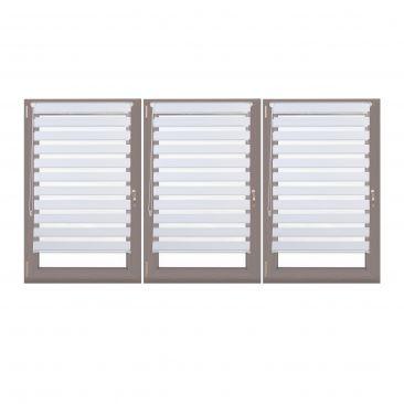 3x Doppelrollo Set Klemmrollo 85x150 Duorollo zum Klemmen Polyester Fensterrollo