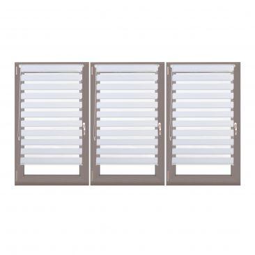 3er Set Doppelrollo 80x150 Klemmrollo Fensterrollo Duorollo Seitenzugrollo weiß