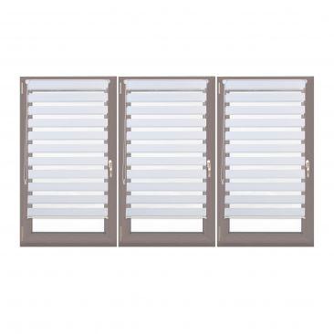 3er Set Doppelrollo 70 cm breit Fensterrollo zum Klemmen Seitenzugrollo weiß