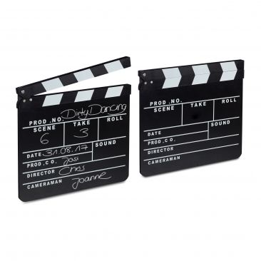 2 ciak cinematografici, set accessori regista, cinema Hollywood clapperboard