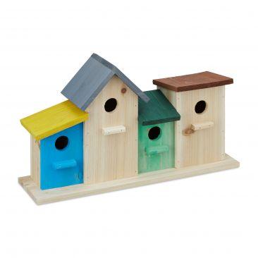 Vogelhäuser bunt Gesamtansicht