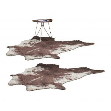 2er Set Teppich Kunstfell Bettvorleger Fellteppich Dekofell Tierfell künstlich