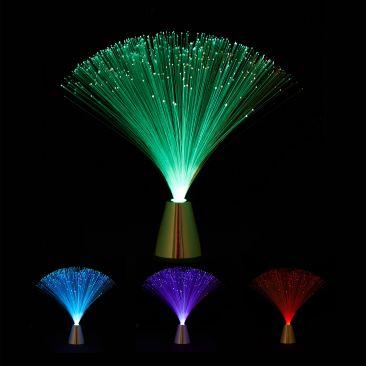 Glasfaserlampe mit Farbwechsel Gesamtansicht