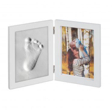 Babybilderrahmen mit Gipsabdruck Gesamtansicht
