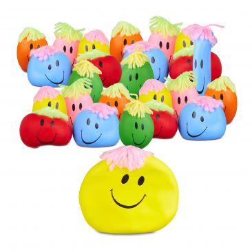 24x Knautschball im Set zum Drücken und Kneten Wut-Ball Anti-Stress-Ball bunt