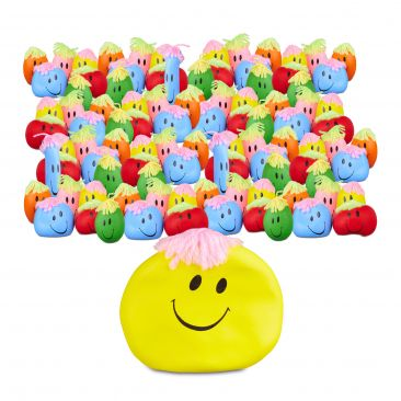 96er Set Knautschbälle zum Stressabbau Wutball für Kinder und Erwachsene Gesicht