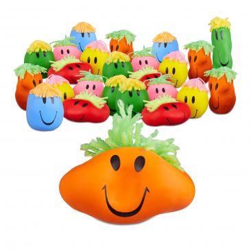12er Set Knautschball mit Gesicht Antistressball bunt für Erwachsene und Kinder