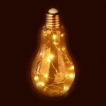 Deko Glühbirne LED aus Glas Gesamtansicht