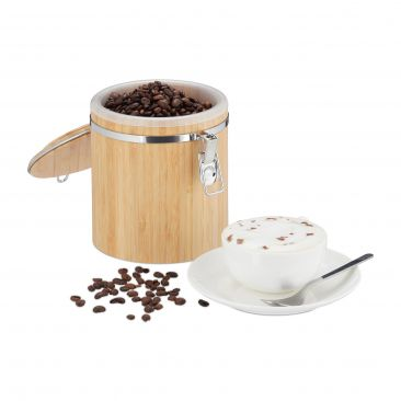 Kaffeedose Bambus Gesamtansicht
