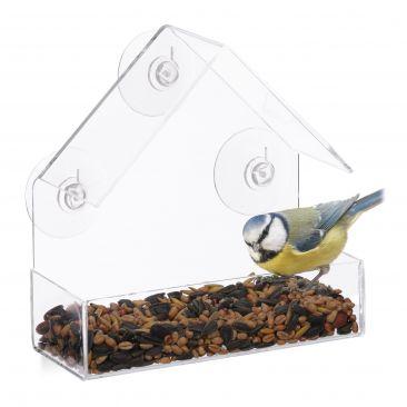 Fenster-Vogelfutterhaus Gesamtansicht