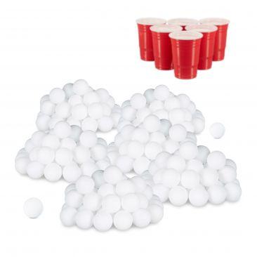 288x Beer Pong Bälle, Plastikbälle, Tischtennisbälle, Wurfbälle, Ping Pong Bälle
