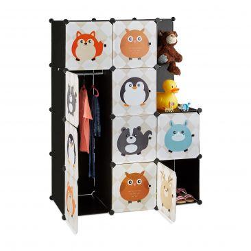 Steckregal Kinderzimmer mit Tiermotiven Gesamtansicht