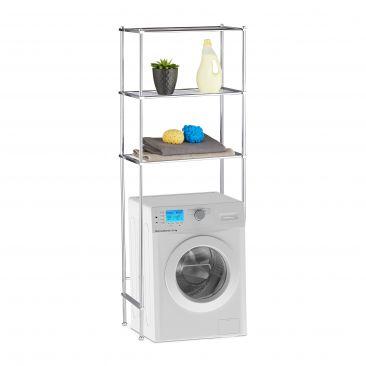 Überbauregal Waschmaschine 3 Ablagen Gesamtansicht