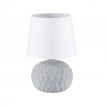 Tischlampe mit Zementsockel Gesamtansicht