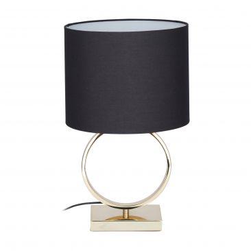 Tischlampe Schwarz-Gold Gesamtansicht