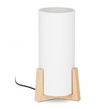 Tischlampe Holzfuß Gesamtansicht