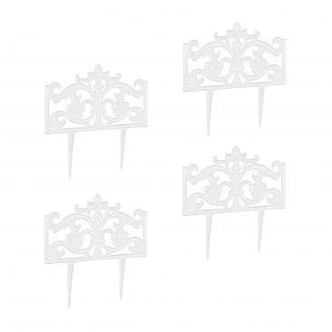 4x Beetzaun Gusseisen Beetabgrenzung Beetbegrenzung Beeteinfassung Beetumrandung
