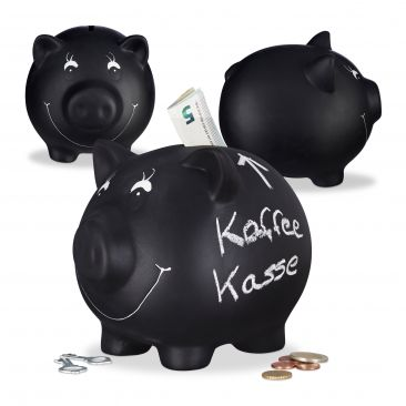 3x Sparschwein, Sparbüchse, Glücksschwein, Kinderspardose, Gelddose, Spardose