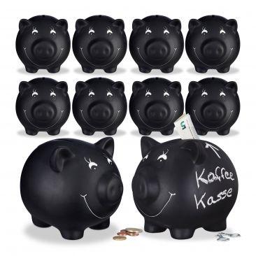10x Sparschwein, Sparbüchse, Kinderspardose, Gelddose, Spardose, Glücksschwein