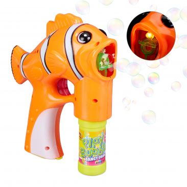 LED Seifenblasenpistole Fisch Gesamtansicht