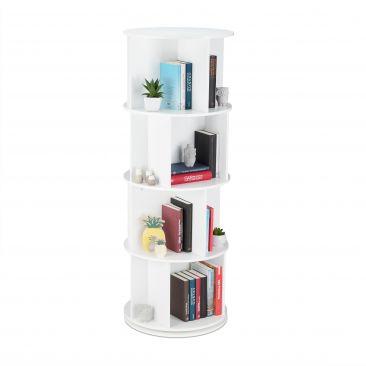 Drehbares Bücherregal mit 12 Fächern Gesamtansicht