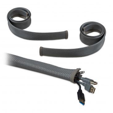 3m Kabelschlauch Kabelführung Schreibtisch Reißverschluss Kabelkanal flexibel