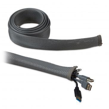 2m Kabelschlauch Reißverschluss Kabelkanal flexibel Kabelführung Schreibtisch