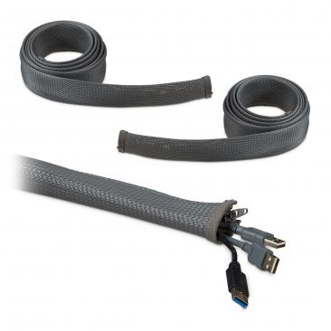 6m Kabelschlauch Reißverschluss Kabelkanal flexibel Kabelführung Schreibtisch