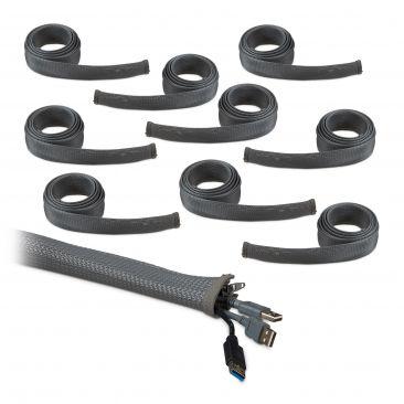20m Kabelschlauch Reißverschluss Kabelführung Schreibtisch Kabelkanal flexibel