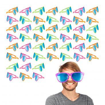 48x Partybrille groß Riesenbrille Scherzbrille Gagbrille Spaßbrille Clown Brille