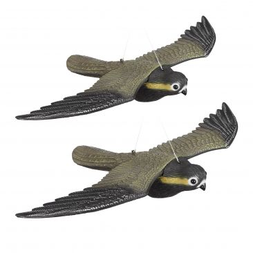 2 x Falcon Bird Repellent, Flying Decoy Pest Control, Pigeon Scarer Scarecrow