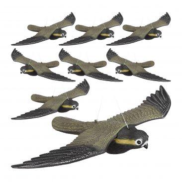8 x Falcon Bird Repellent, Flying Decoy Pest Control, Pigeon Scarer Scarecrow