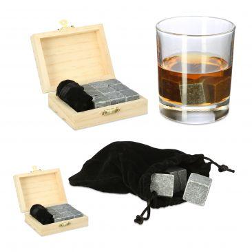 18 x Whisky Steine Kühlwürfel Kühlsteine wiederverwendbare Eiswürfel Speckstein