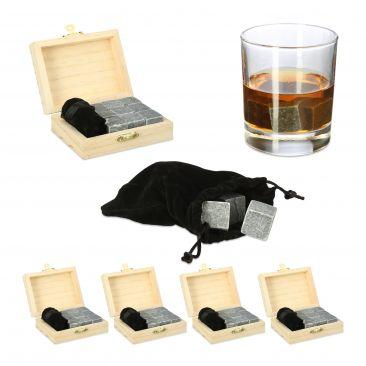 45 x Whisky Steine Kühlsteine wiederverwendbare Eiswürfel Kühlwürfel Speckstein