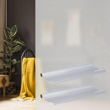 2x Milchglasfolie Fensterfolie 90x200 statisch haftend Sichtschutzfolie Türfolie