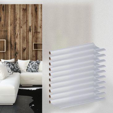 10 x Milchglasfolie, Fensterfolie statisch, Sichtschutzfolie 45x200, Türfolie