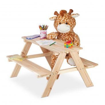 Kindersitzgruppe Holz Gesamtansicht