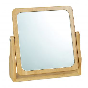Kosmetikspiegel Bambus Gesamtansicht