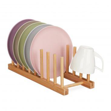 Bambus Abtropfgestell für Teller Gesamtansicht