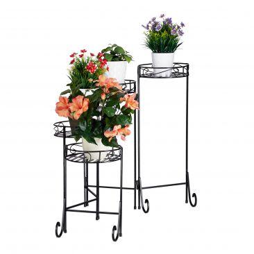 Blumentreppe Metall 5-stufig Gesamtansicht
