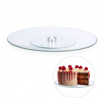 Drehbare Tortenplatte Glas Gesamtansicht