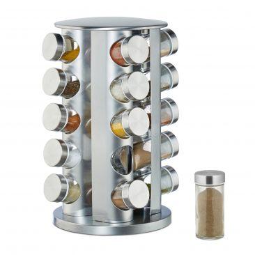 Gewürzkarussell mit 20 Gläsern Gesamtansicht