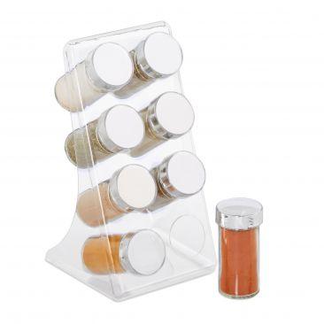 Acryl Gewürzregal mit 8 Gläsern Gesamtansicht