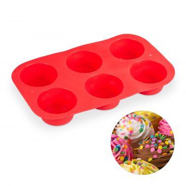 6er Muffinform aus Silikon Gesamtansicht