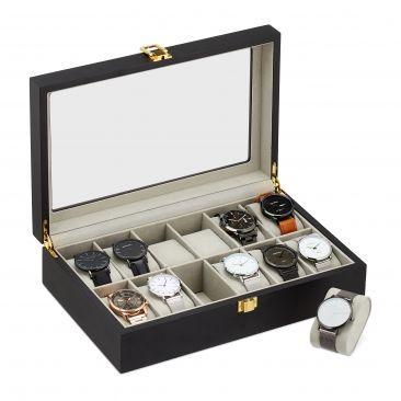 Uhrenbox mit 12 Fächern Gesamtansicht