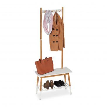Garderobenständer weiß skandinavisch Gesamtansicht