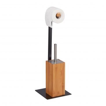 WC rolhouder bamboe & metaal
