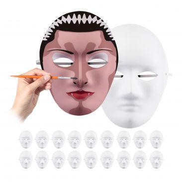 Maske weiß 20er Set Gesamtansicht